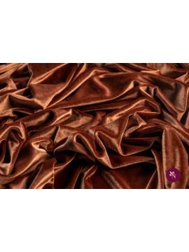 Catifea elastică maro cupru