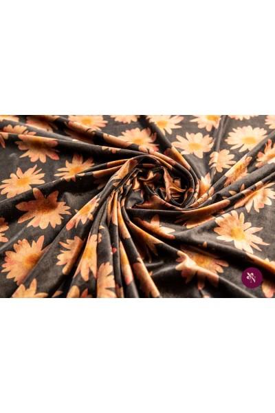 Catifea maro imprimată cu flori