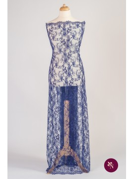 Dantelă Chantilly albastru cerneală