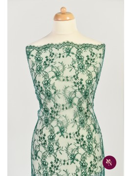 Dantelă Chantilly verde imperial