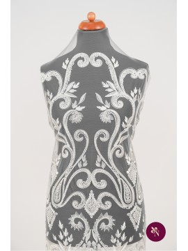 Dantelă mireasă ivoire baroc