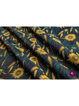 Jacquard bleumarin floarea soarelui