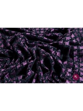 Jacquard catifea negru-mov