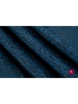 Jacquard bleumarin-albastru petrol elastic