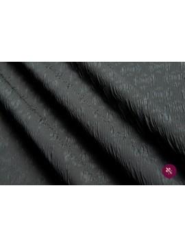Jacquard negru creponat