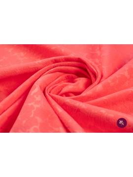 Jacquard uni roz bombon cu flori