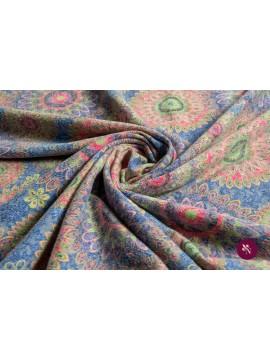 Jersey flori colorate cu lână