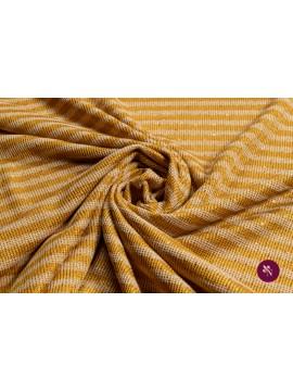 Jersey galben ocru cu dungi și paiete