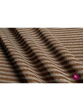 Jersey maro cupru cu dungi și paiete