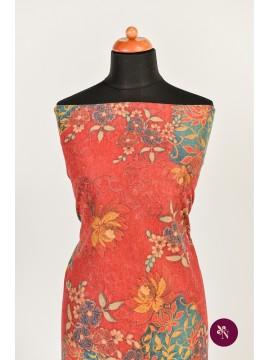 Jersey roșu cu flori colorate