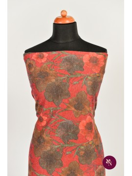 Jersey roșu cu flori de mac