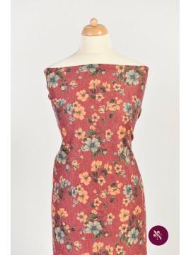 Jersey roșu grena cu flori