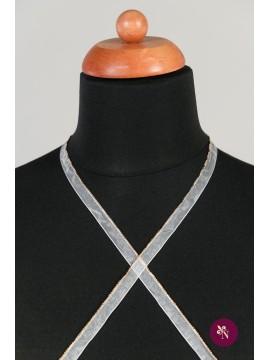 Bandă ivorie cu șirag auriu metalic