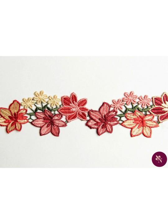 Bandă macrame cu flori