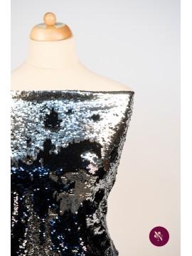 Paiete reversibile bleumarin lucios - argintiu