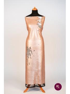 Paiete reversibile roz piersică mat - argintiu