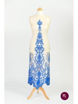 Dantelă baroc albastru electric