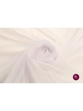 Tulle moale alb