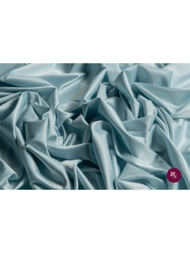 Satin elastic bleu