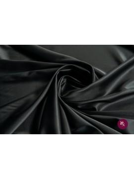 Satin elastic negru