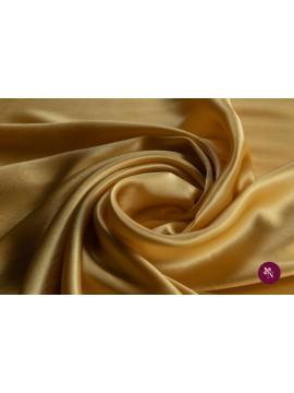 Satin galben ocru mătase naturală