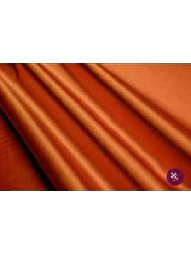 Satin orange mătase naturală