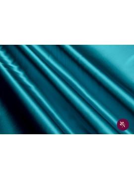 Satin verde turquoise mătase naturală