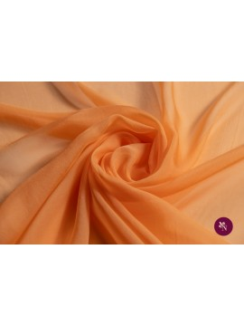 Voal chiffon orange piersică mătase naturală