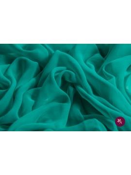 Voal Georgette verde mentă mătase naturală
