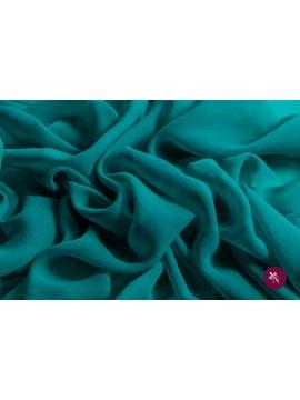 Voal Georgette verde turquoise mătase naturală