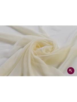 Voal Georgette ivoire mătase naturală