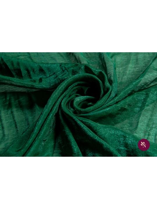 Voal chiffon verde imperial strălucitor
