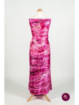 Voal mătase naturală siclam-roz pal