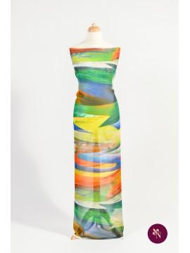 Voal multicolor imprimat