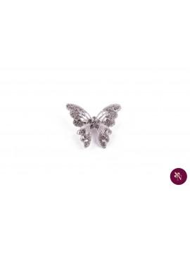 Broșă metal fluture