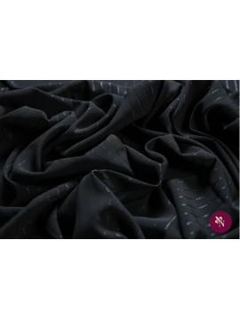 Stofă neagra cu dungi lucioase